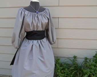 New Womens Confederate Gray Civil War Pioneer Colonial Skirt 3 Piece Costume