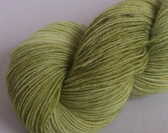 Sock Yarn, Alpaca and Superwash Wool, Green Apple Semi Solid