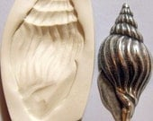 Large seashell polymer clay mold