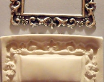 Filigree Rectangle Frame Polymer Clay Mold