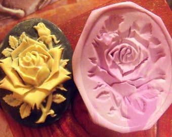 Mothers day rose polymer clay mold