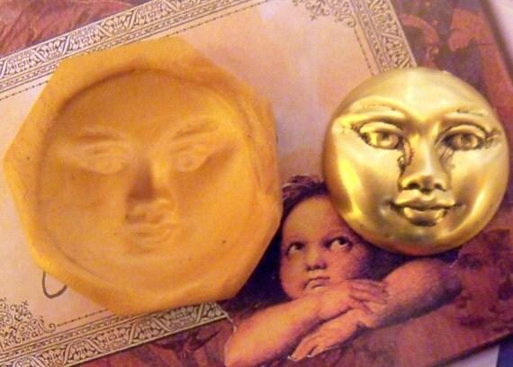 Mystic Moon Man Polymer clay mold