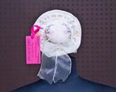 "Vintage Hat-Shaped Ring Jewelry Box ""Guarani"" Wedding Keepsake Bridal Party Favor"