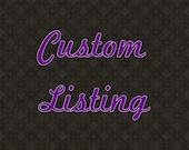Custom Listing for TheGildedTassel
