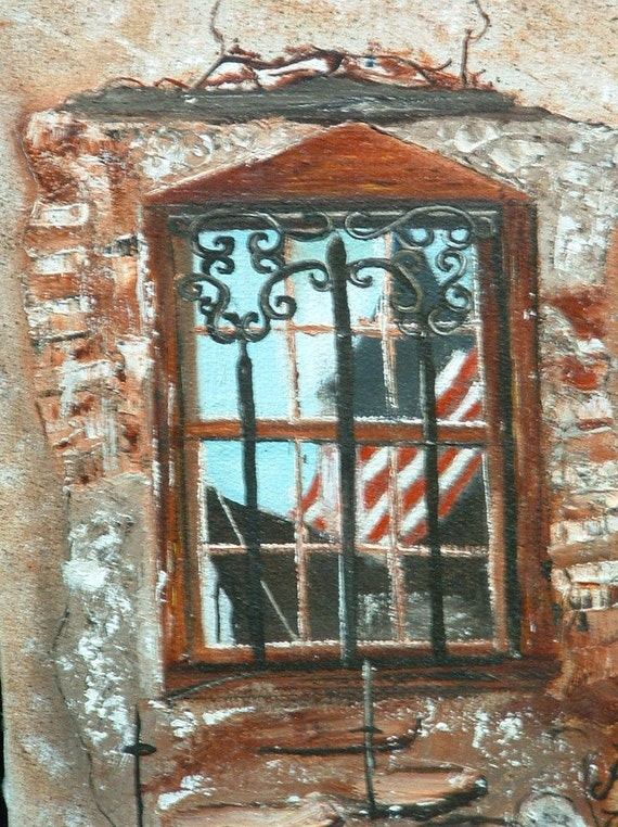 Oil Painted Window Reflection