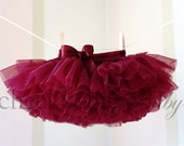 Pettiskirt Burgundy Luxe Demi-by Cheeky Chic Baby