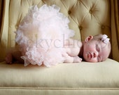 Pettiskirt Ivory Vintage Pink NEWBORN Luxe - by Cheeky Chic Baby