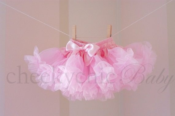Luxe Light Pink Pettiskirt by Cheeky Chic Baby - True Newborn size fits 0-3 mos