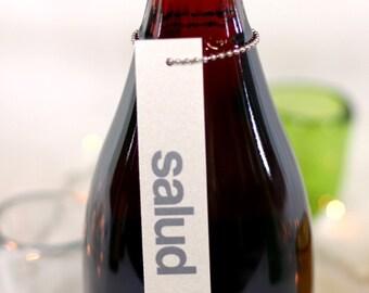 salud wine tags