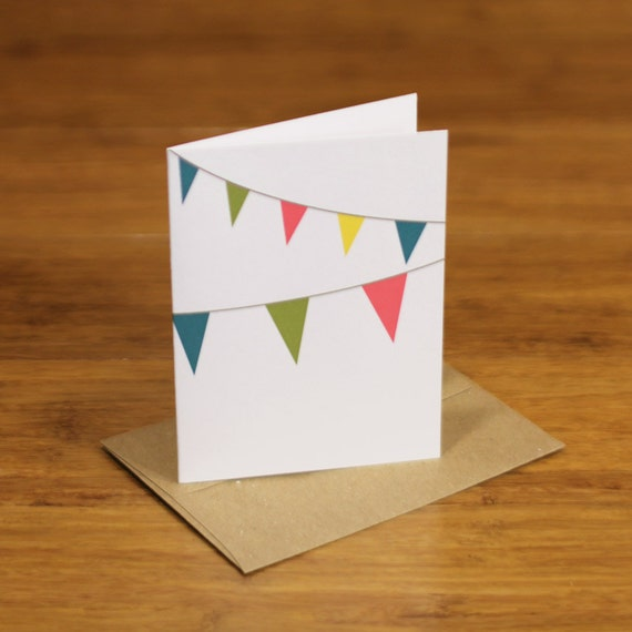 party flags single card