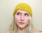 QUEENIE Flapper Hat in SUNNY YELLOW - READY TO SHIP