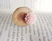 Blooming Oak Wood Ring in PALE PINK - READY TO SHIP