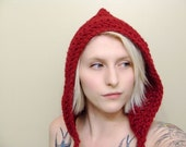 Woodland Hood in Ruby Red - Ready To Ship
