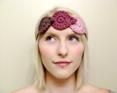 Leaf Headband Woodland Halo in Pale Rose . Deep Rose . Fawn - Made To Order  // Save 30% with coupon code //