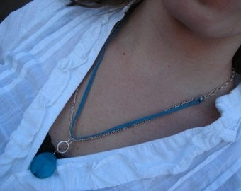 SALE: Teal & Silver