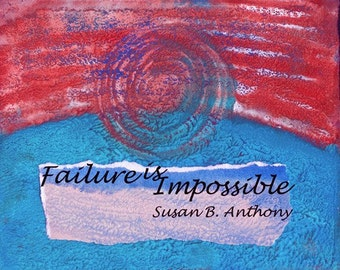 Failure is impossible/ art postcard