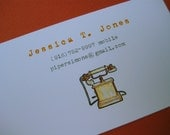 Golden Vintage Telephone - Calling Cards by PiperSimone on Etsy