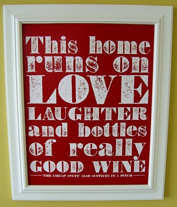 Good wine poster (red)