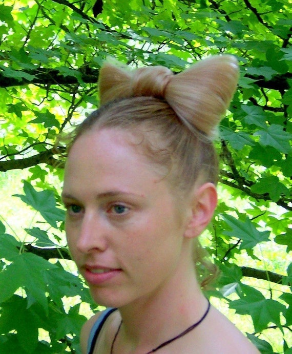 Neko Kitty hair bow -literaly this bow is made of hair - custom to your hair color