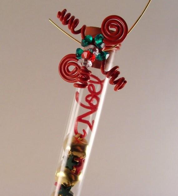 Noel Christmas Test Tube Ornament/Decoration