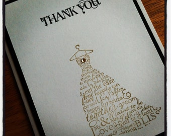 Bridal Shower Thank you notes  set of 50