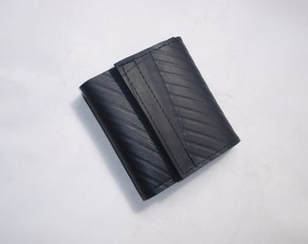 Recycled Rubber Trifold 7 Velcro Wallet