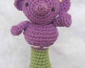 Ella Elephant Crochet Rattle