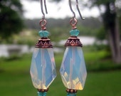 Reserved for Karen Opalite and Copper Earrings