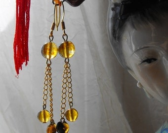 Genuine Amber Dangle Earrings