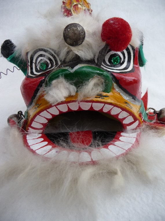 Treasury item: Chinese new year vintage lion nian mask