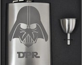 Personalized Darth Vader  Etched Flask by Jackglass on Etsy
