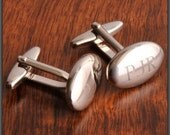 Engraved Oval Cufflinks in Stainless Steel for Groomsman, Groom or FOB by Jackglass on Etsy