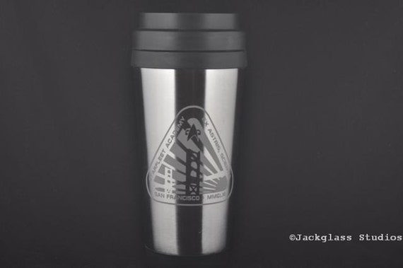 Etched Star Trek  Starfleet Academy Stainless Steel Insulated Cup by Jackglass on Etsy