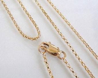 17 Inch 14K Gold Filled 1.1mm Rolo Chain With Lobster  Clasp - All Lengths Available