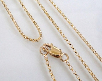 40 Inch 14K Gold Filled 1.1mm Rolo Chain With Lobster Clasp - All Lengths Available