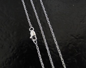 24 Inch - Sterling Silver 1.3mm Rope Chain Necklace - Custom Lengths Available