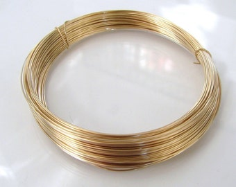 14k Gold Filled Round Soft Wire - 16, 18, 20, 22, 24, 26, 28 gauge, Made in USA
