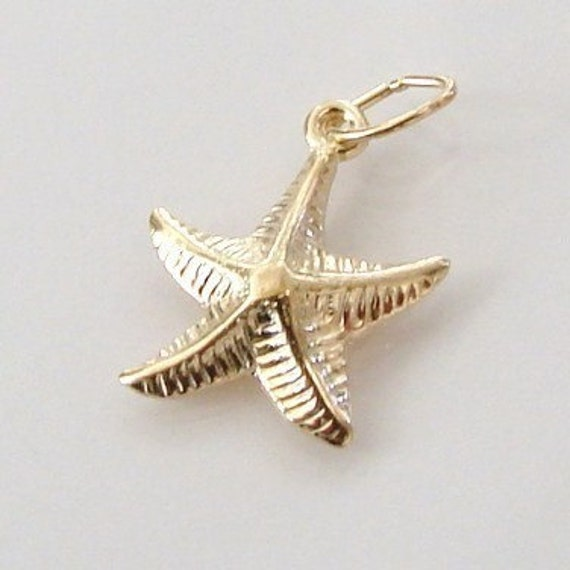 One 14K Gold Filled Starfish Charm