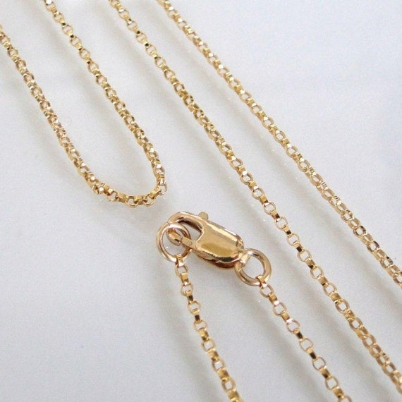 20 Inch 14K Gold Filled 1.1mm Rolo Chain With Lobster  Clasp - All Lengths Available