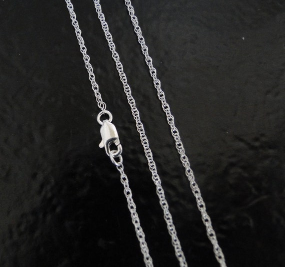 22 Inch - Sterling Silver 1.3mm Rope Chain Necklace - Custom Lengths Available