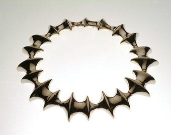 Sterling silver bone neckpiece