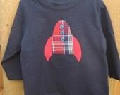 Astronaut Space Rocket Appliqued Shirt or Onesie