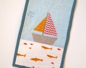 Customized Sailboat Mini Quilt
