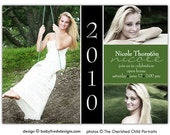 Photo Graduation Invitation Announcement - Digital File //you can change the colors// - Nicole design