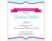 Digital File - Bridal Shower invitation //you can change the colors// - Kathryn design
