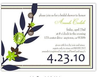 Bridal shower invites //you can change the colors// - Amanda design