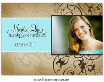 10 photocards - Photo Graduation Announcements //you can change the colors// - Marilee design