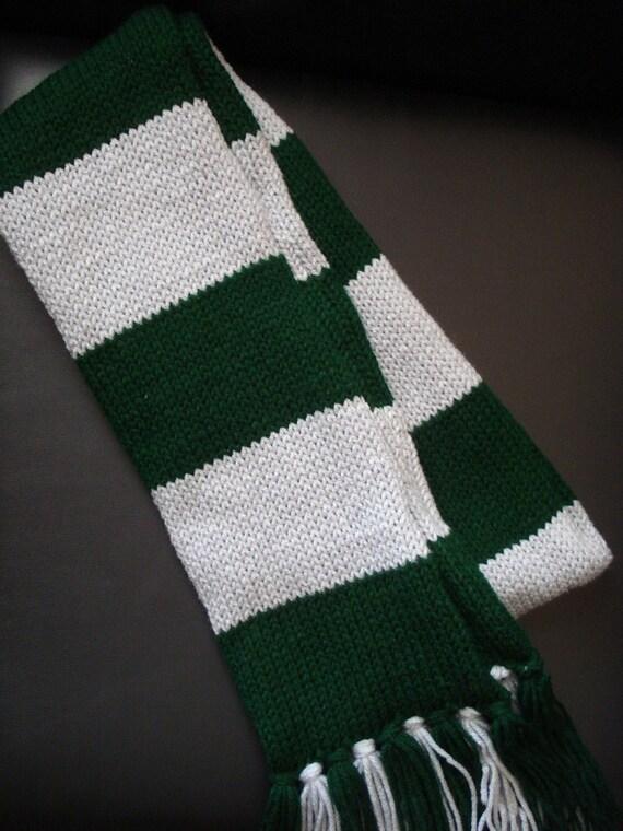 Knitting Pattern Slytherin Scarf : Harry Potter Scarf Slytherin Style inspired by ShockMePink
