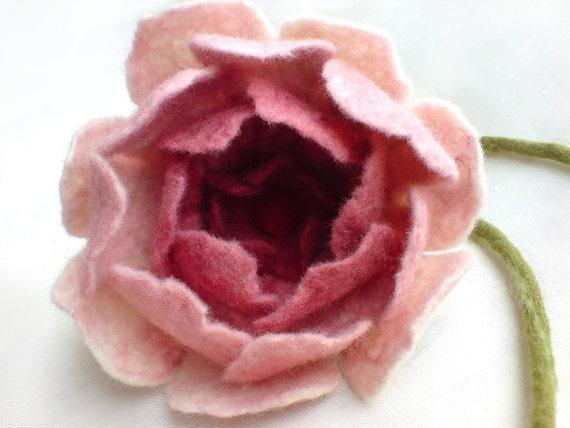Big Felt Rose by AVAoriginal