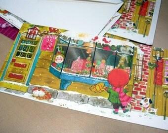 40's 50's Vintage Norcross Christmas Greeting Card  RESERVED 4 VICKI